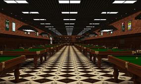 台球厅装饰效果图 JPG