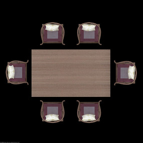 现代简约欧式psd餐桌桌椅