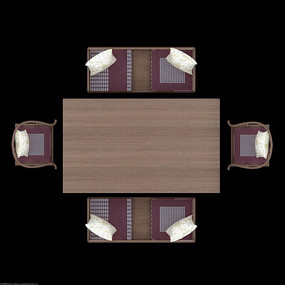 现代时尚餐厅餐桌靠椅psd