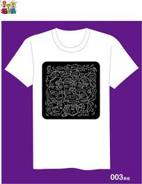 小怪设计T恤图案之黑板ai AI