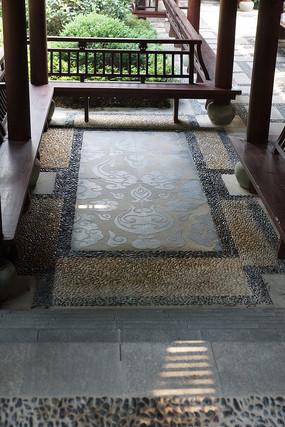 中式文化地面铺装图片