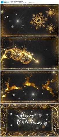 高端金色粒子新年片头视频