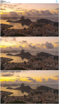里约热内卢湖光山色实拍视频