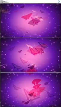 梦幻的蝴蝶飞舞背景动态视频 mov