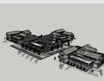 中式古建商业街