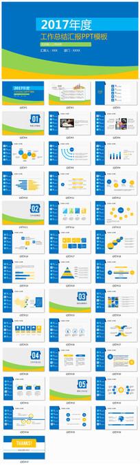 2017年度工作总结汇报PPT模板