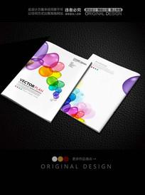 彩色水泡视觉封面设计
