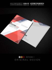 红色时尚色块产品手册封面