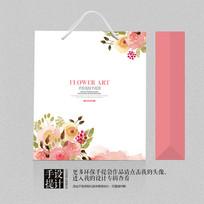 花卉艺术手提袋清爽包装设计