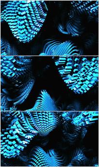 几何体集合波浪VJ视频