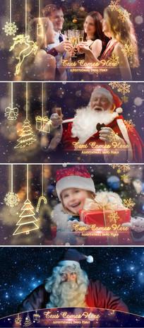 金色温馨圣诞新年相册片头模板