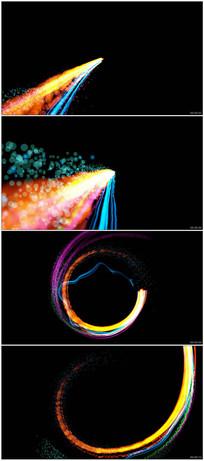 流光光带粒子光效转场动态视频