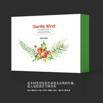 绿色环保保健品艺术包装盒设计