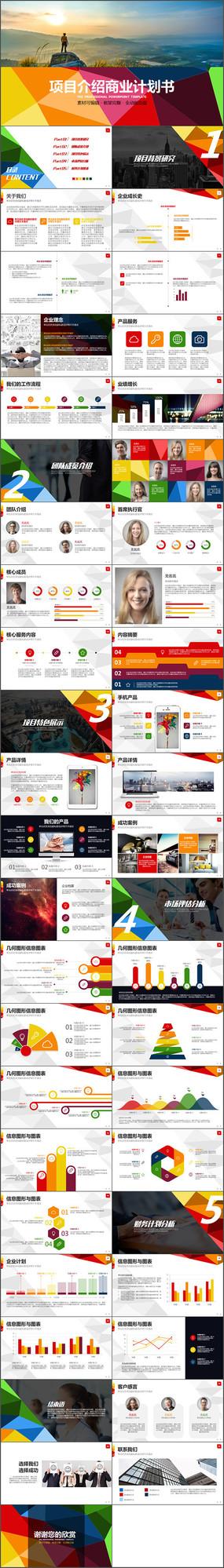 时尚项目介绍商业计划书PPT模板