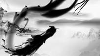 水墨中国风震撼飞龙展示logo片头模板