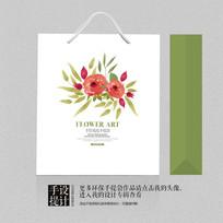 小清新花卉手提袋包装设计