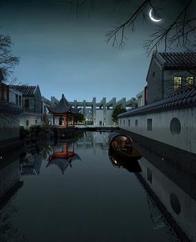 中式古典别墅景观意向
