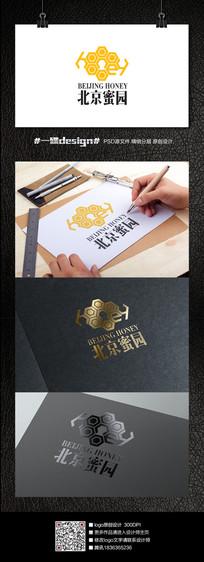 北京蜜园蜂蜜logo设计