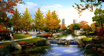 城市公园广场