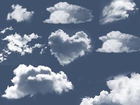 多种云朵造型psd