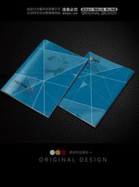 个性线条蓝色科技封面
