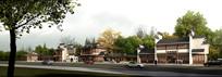 古韵街道建筑景观