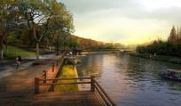 河道木栈道景观