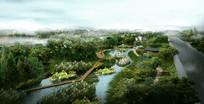 生态河道游步道景观