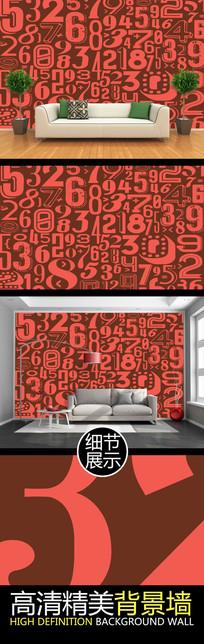 数字创意时尚电视PSD背景墙