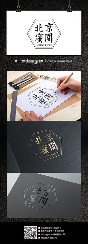 中国风蜂蜜logo设计