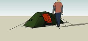 登山便携式帐篷模型 skp