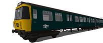 绿皮小火车模型