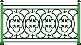 欧式特色栏杆元素图案装饰