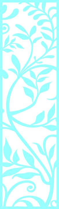 欧式特色藤蔓镂空装饰图案