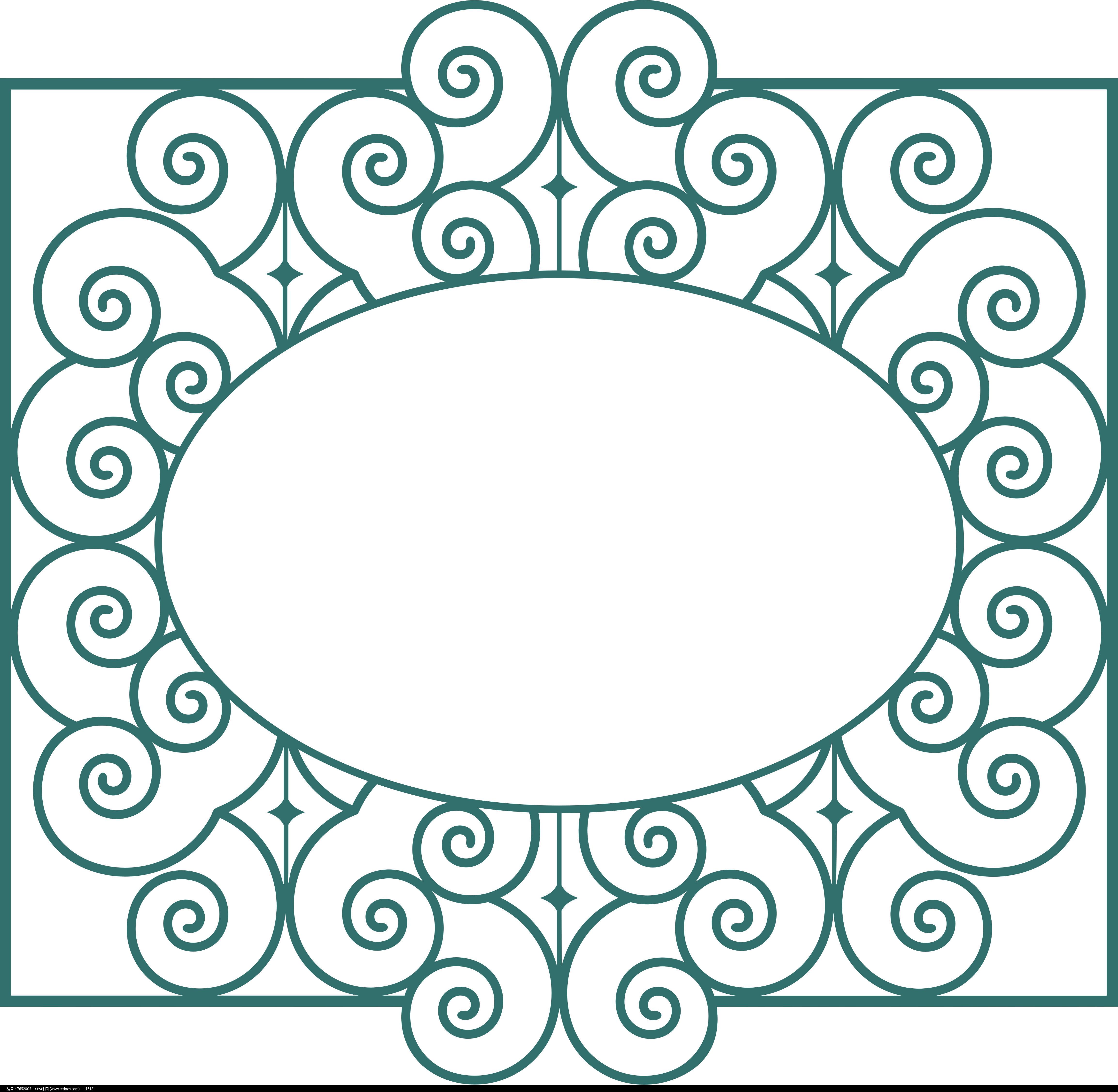 欧式椭圆图案图片