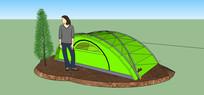 野外登山帐篷模型 skp