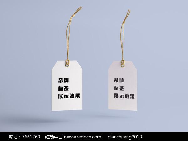 标签吊牌展示模板图片