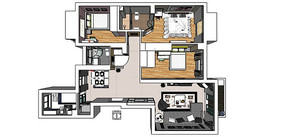 大户型三室一厅