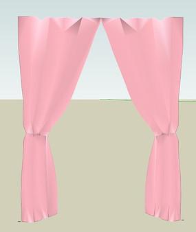 淡图纸薄板平铺粉色花朵法兰风管背景图片