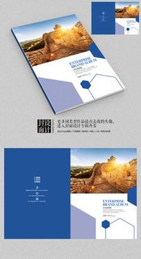 大气长城企业品牌宣传画册封面