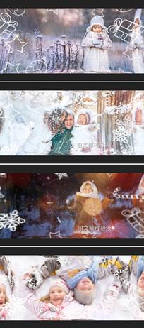 冬季圣诞新年家庭相册模板