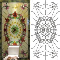 教堂花纹欧式图雕刻图案