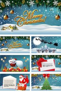 圣诞节电子贺卡PPT动态模板