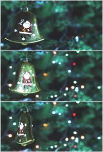 圣诞树挂小铃铛卡通圣诞老人视频