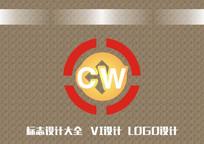 圆形字母标志设计