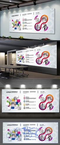 创意企业文化形象墙设计