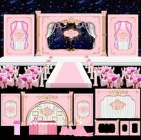 粉色公主城堡主题婚礼 AI