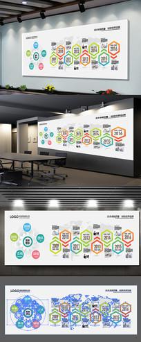 公司发展历程文化墙