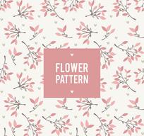 化妆品印花花卉矢量图案