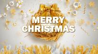 金色圣诞背景视频素材